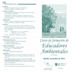 Curso de formación de Educadores Ambientales noviembre de 2015