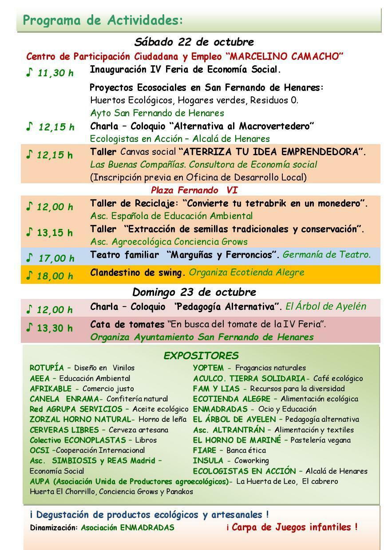 Programa de Actividades de San Fernando