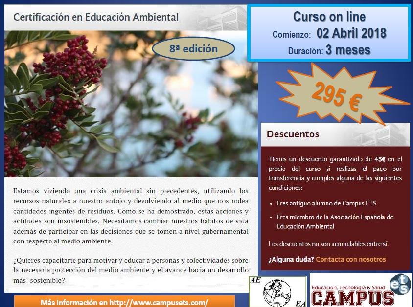 Curso de abril de certificacion de educacion ambiental de 2018