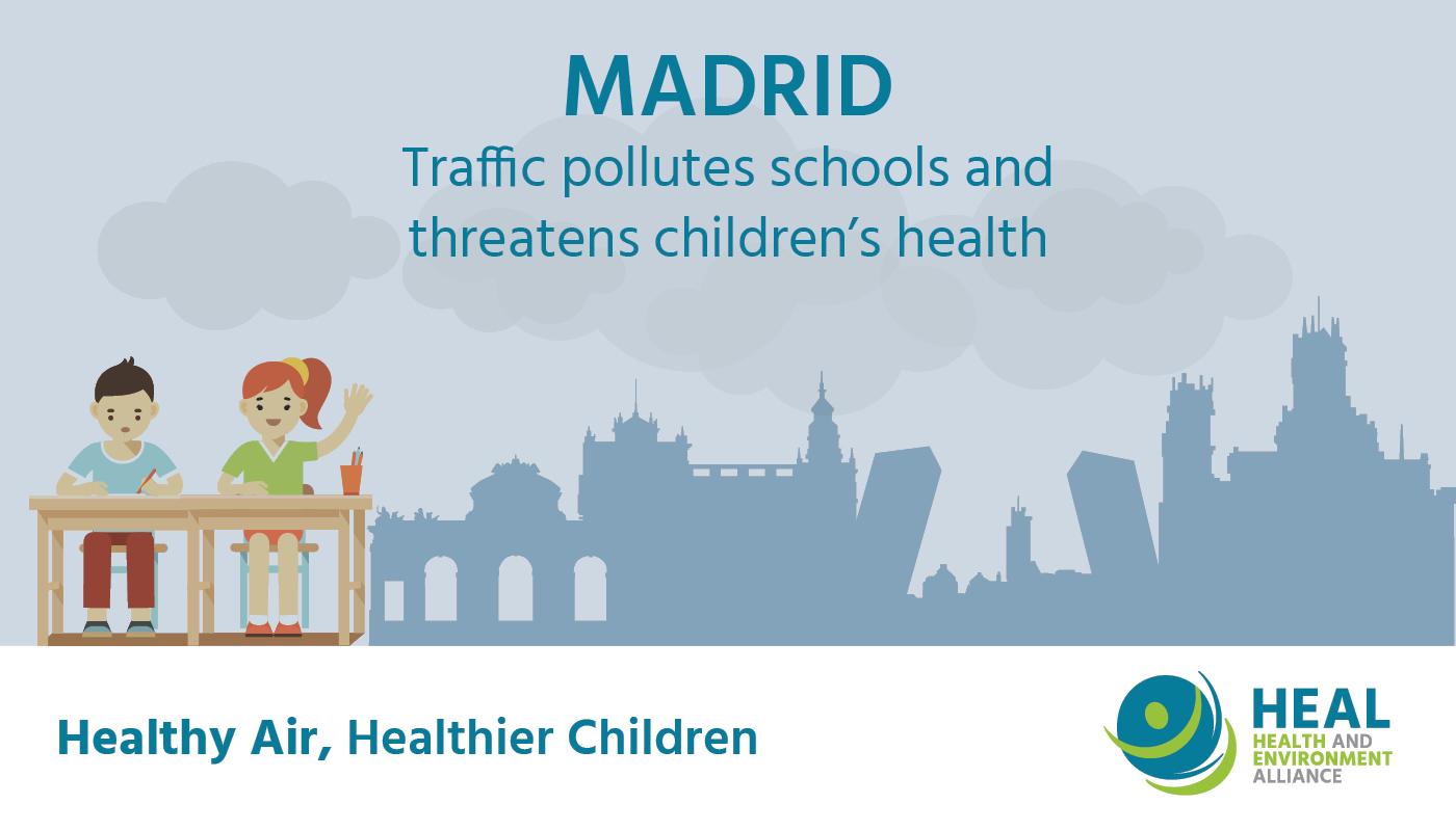 Calidad del aire en colegios de niños Madrid